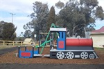 New train and carriage play equipment at Rosewood Memorial Park.jpeg
